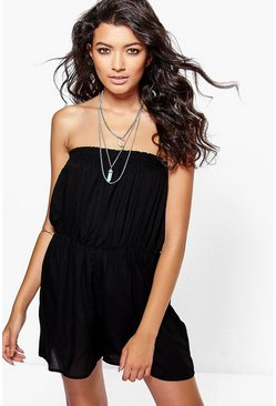 Mona Block Colour Bandeau Playsuit