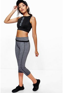 Maisy Performance Fold Waist Band Capri Leggings