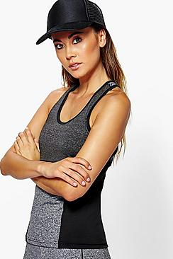 BooHoo Fit Tia Fit Contrast Panel Performance Running Vest
