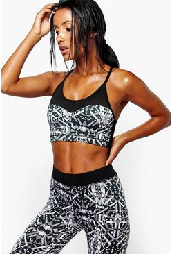 Isabel Printed Seamless Performance Sports Bra