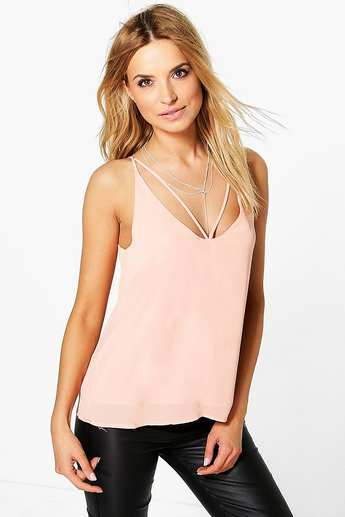 Millie Caged Strappy Woven Cami