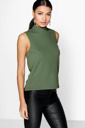 Isabella High Neck Sleeveless Top