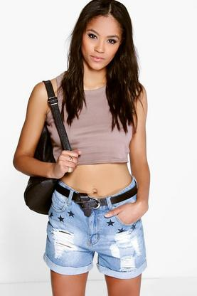 Leah Cotton Basic Scoop Neck Crop