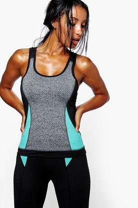 Olivia Performance Contrast Panel Running Vest