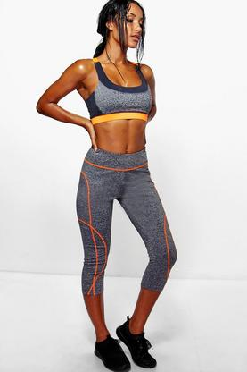 Erin Performance Contrast Capri Running Leggings