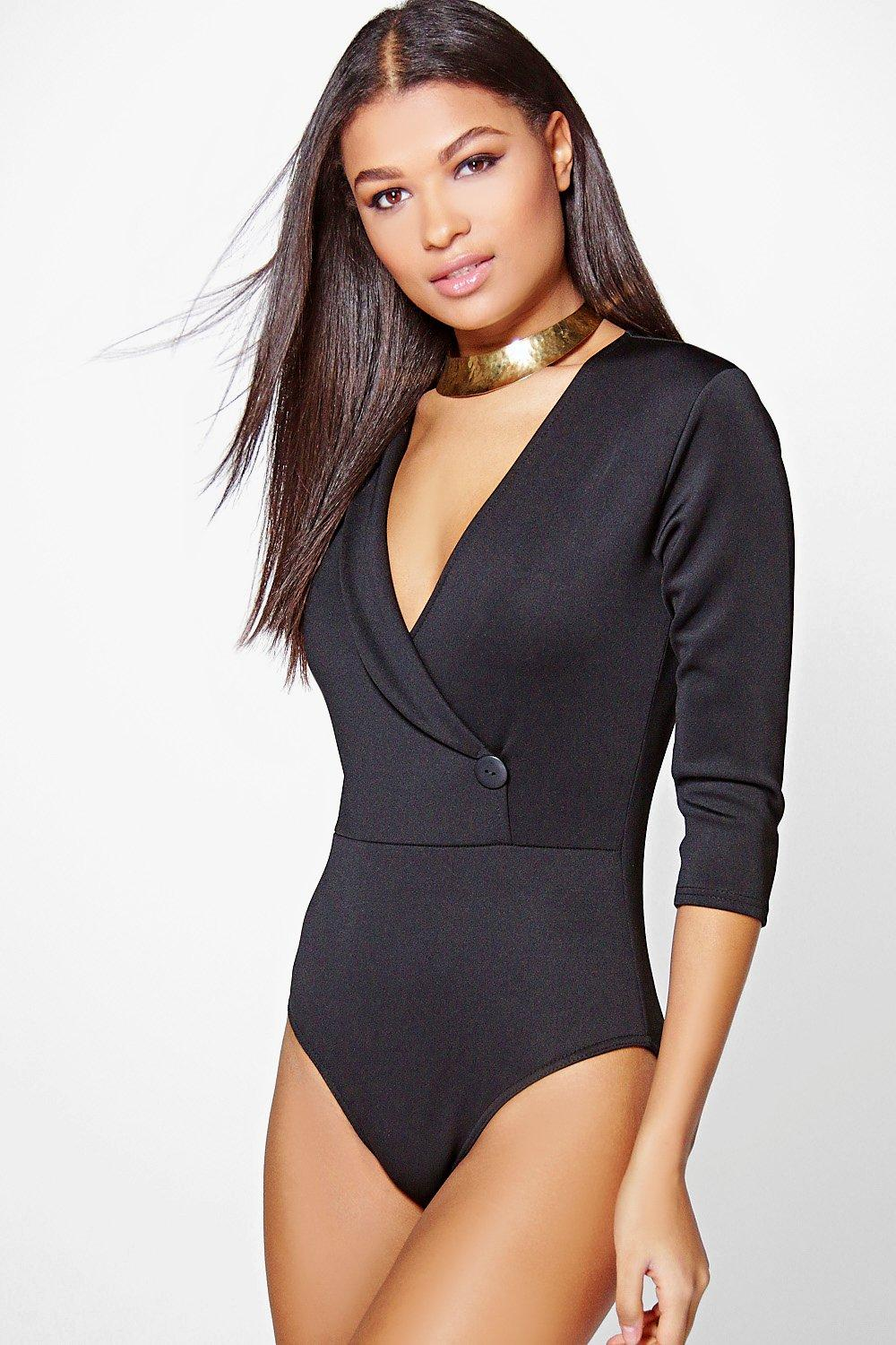 Ella Wrap Collar Scuba Body