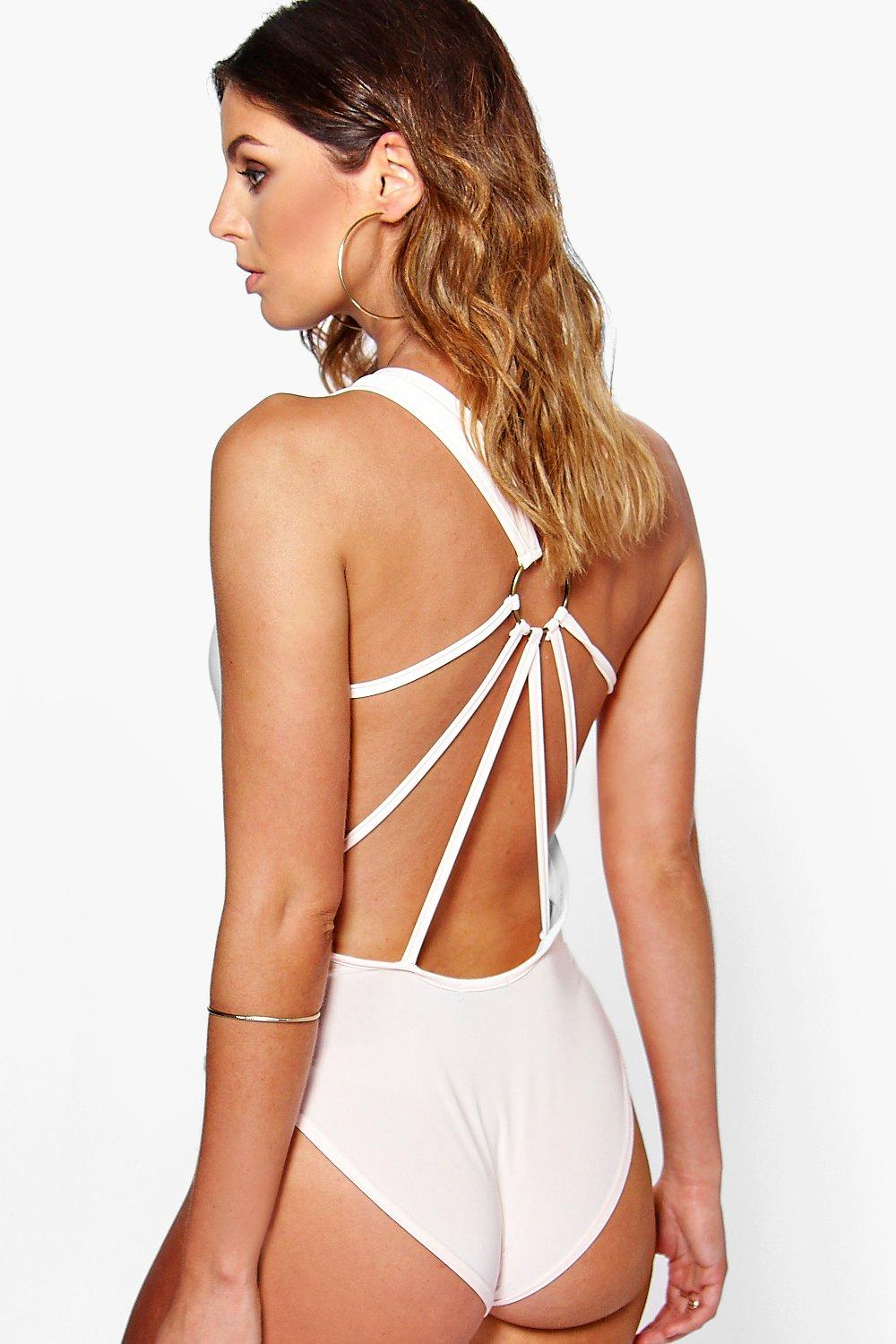 Lily Drape Strappy Trim Back Slinky Body