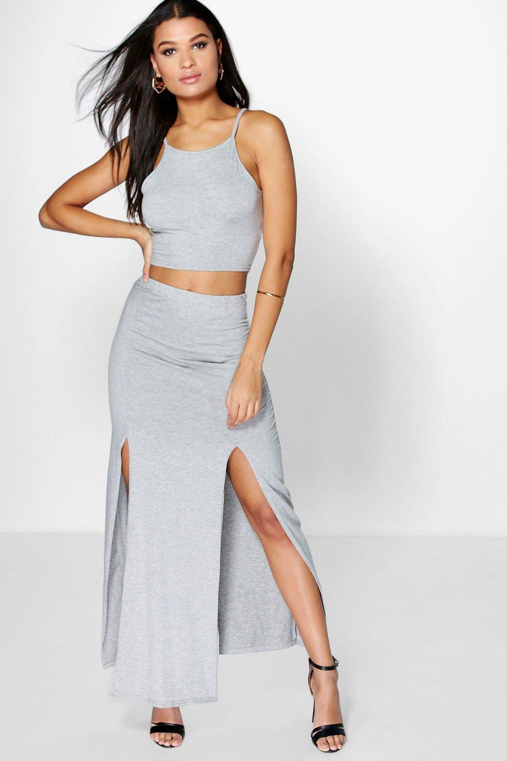 Ana Square Crop Top & Maxi Skirt Co-Ord Set