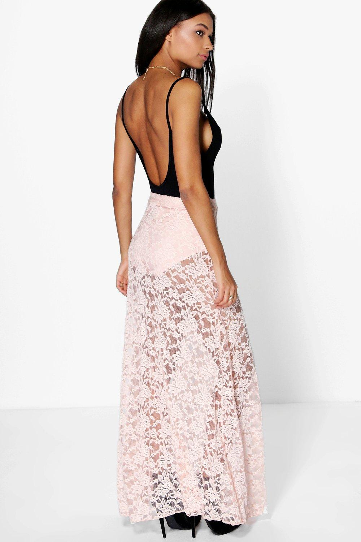 boohoo adala thigh split lace maxi skirt ebay