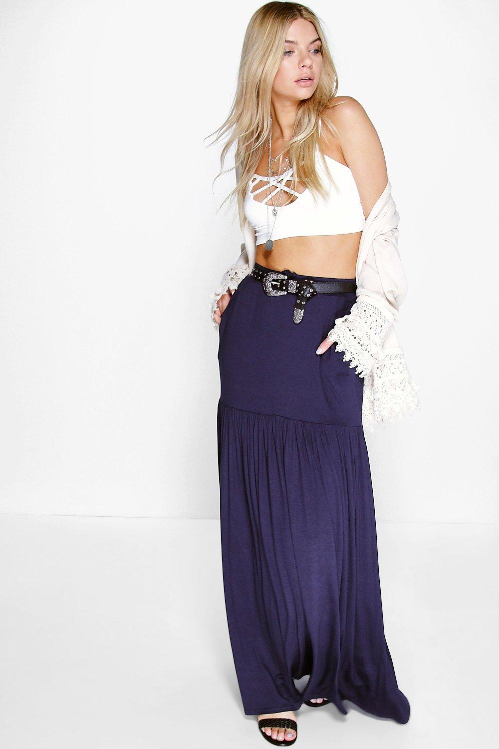 Kate Pocket Side Bohemian Maxi Skirt
