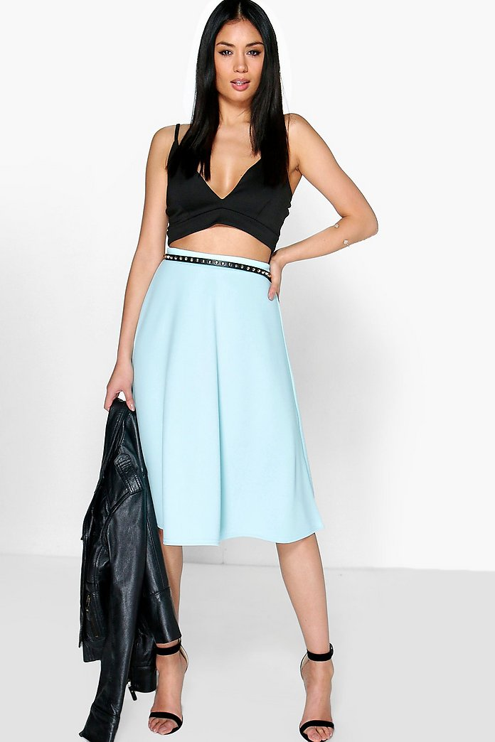 Arianna Plain Full Circle Skater Skirt