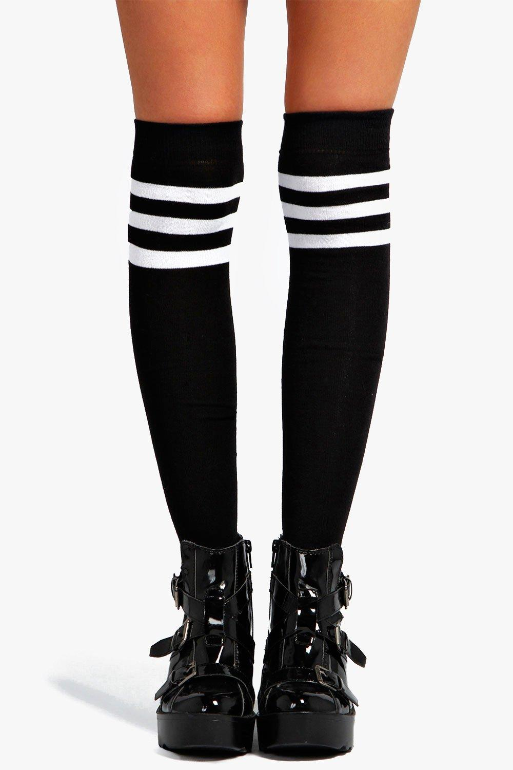 Catherine Stripe Top Knee High Socks