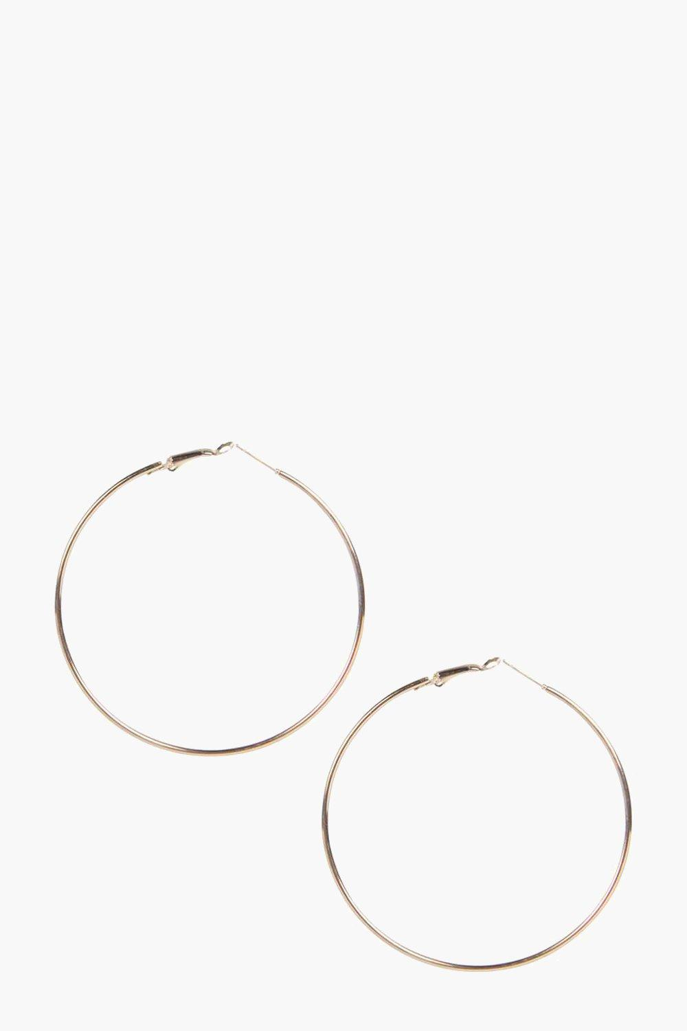 Sophia Plain 6.5cm Hoop Earrings