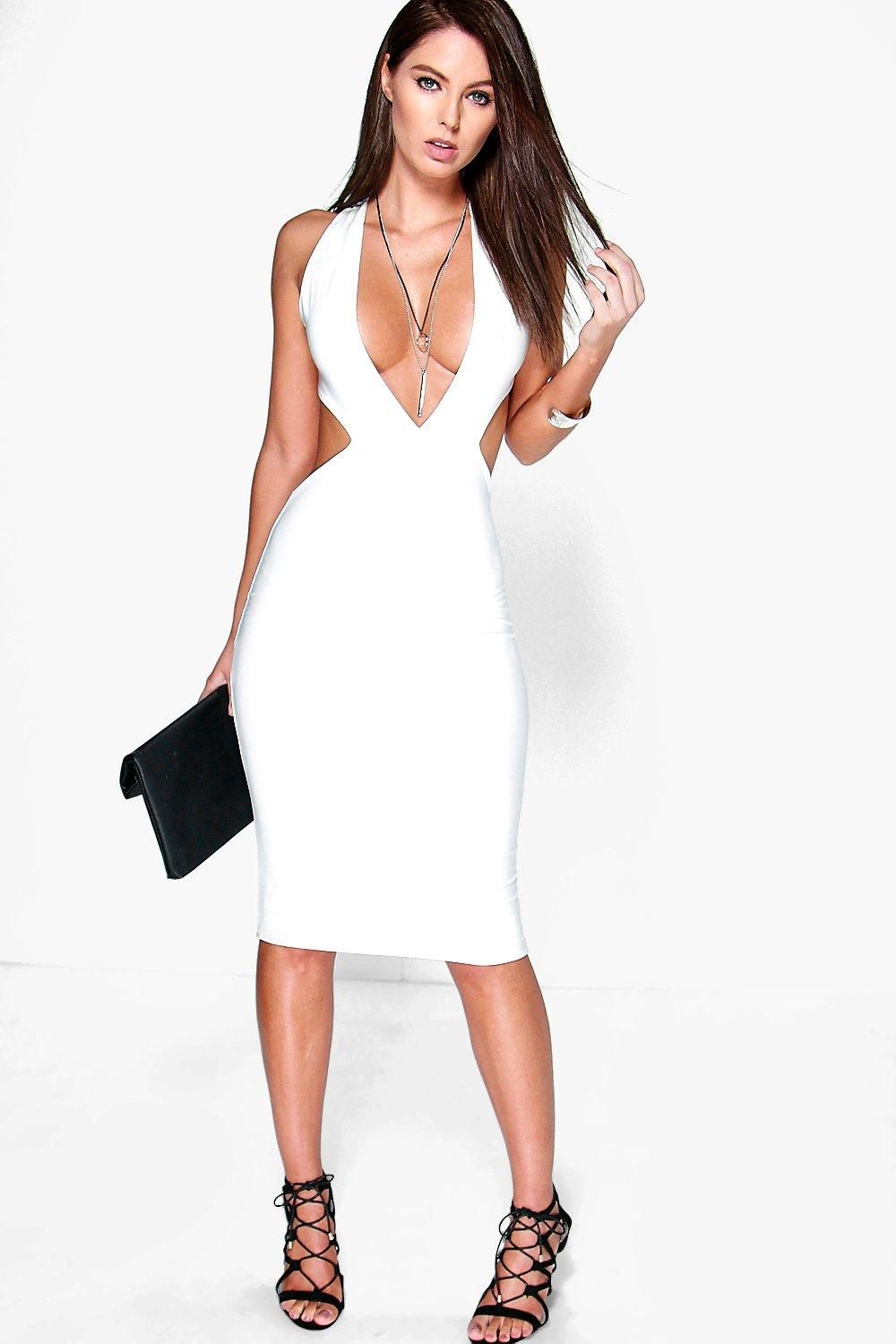 Darcy Slinky Strappy Open Back Midi Dress