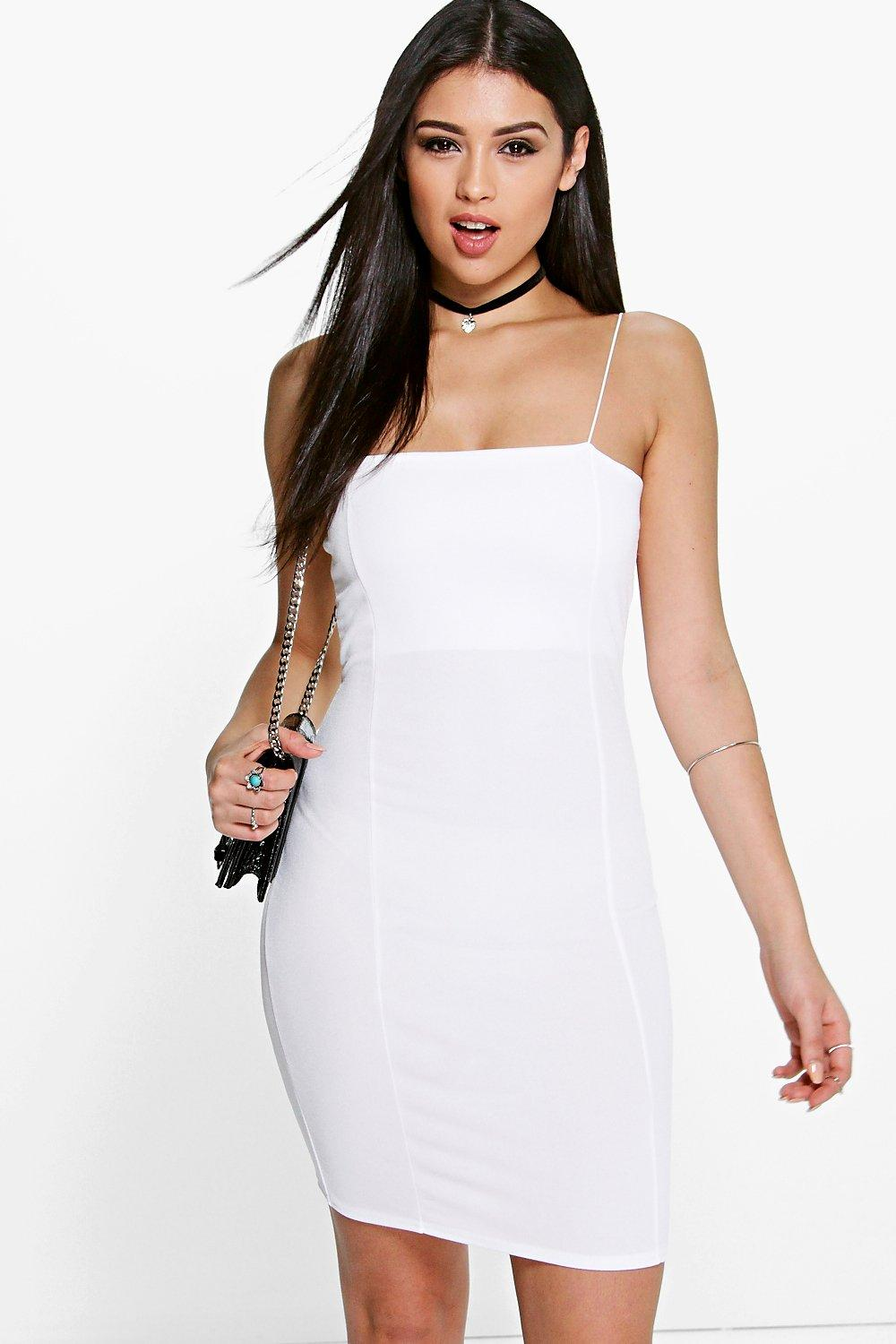 Peyton Crepe Square Neck Bodycon Dress