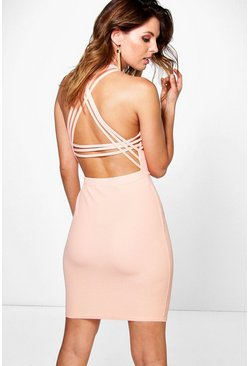 Aubrey Strappy Back Detail Bodycon Dress