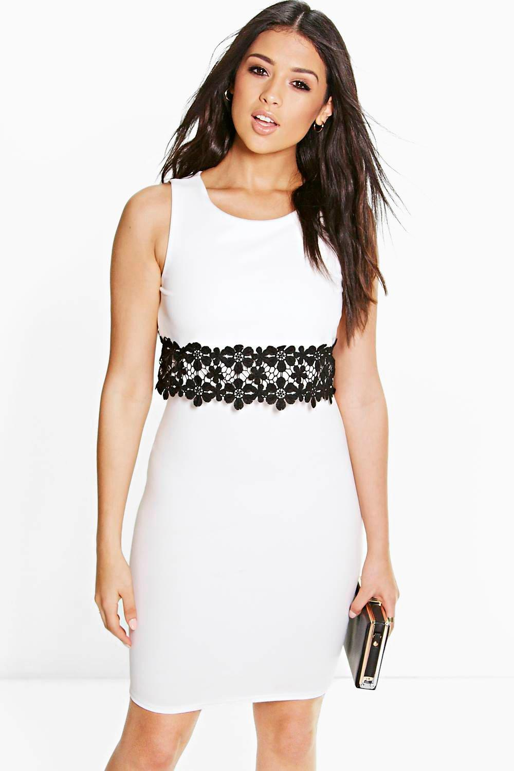 Bronwen Lace Trim Double Layer Dress