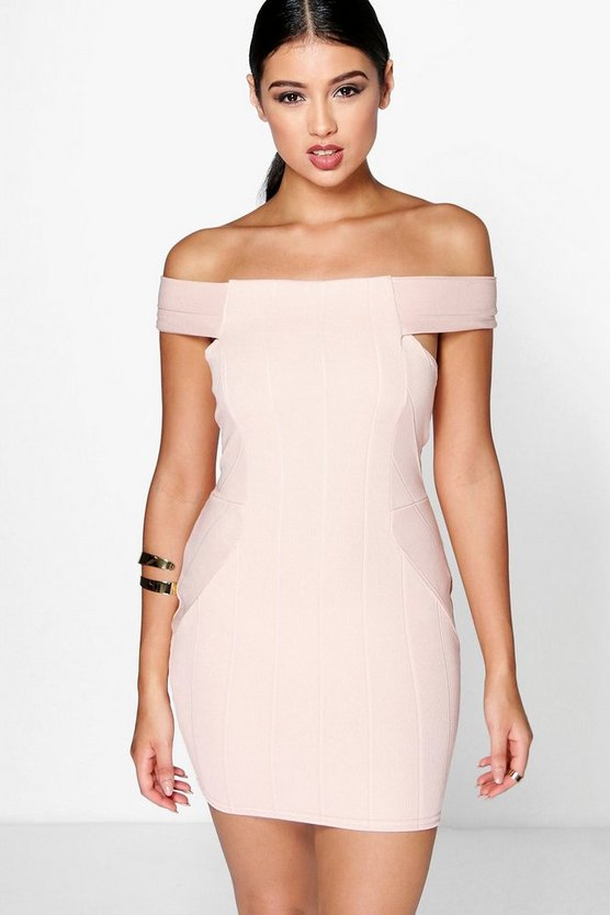Xenia Off The Shoulder Bandage Dress