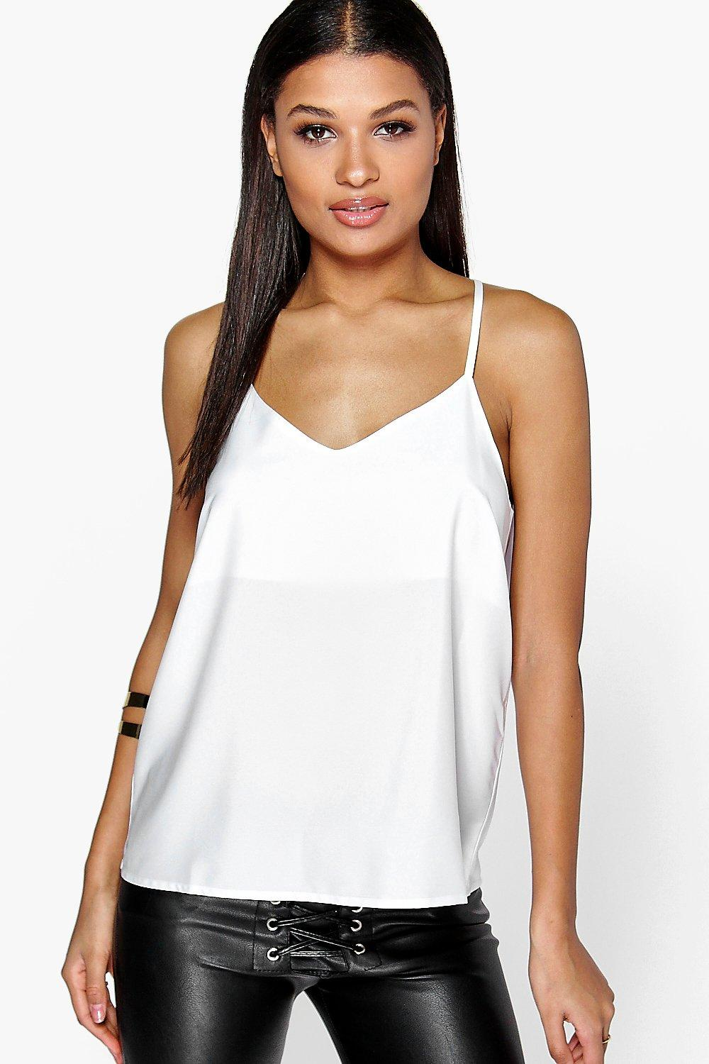 Summer Woven Strappy Back Cami