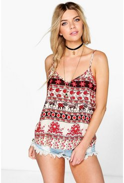 Hollie Printed Woven Cami