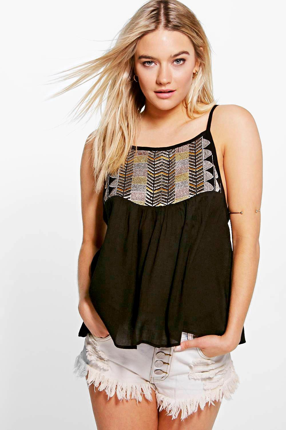 Grace Metallic Embroidered Cami