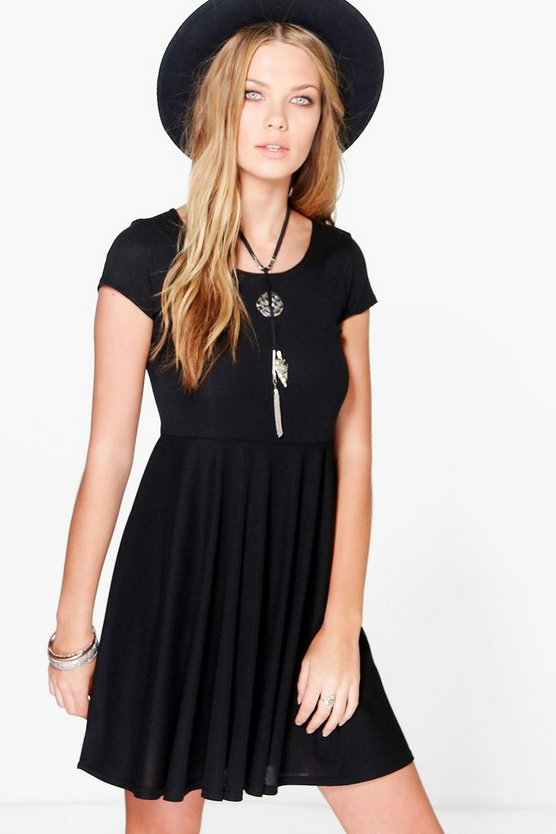 Eleri Rib Basic Skater Dress
