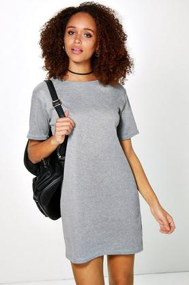 Carina Ribbed T-Shirt Shift Dress