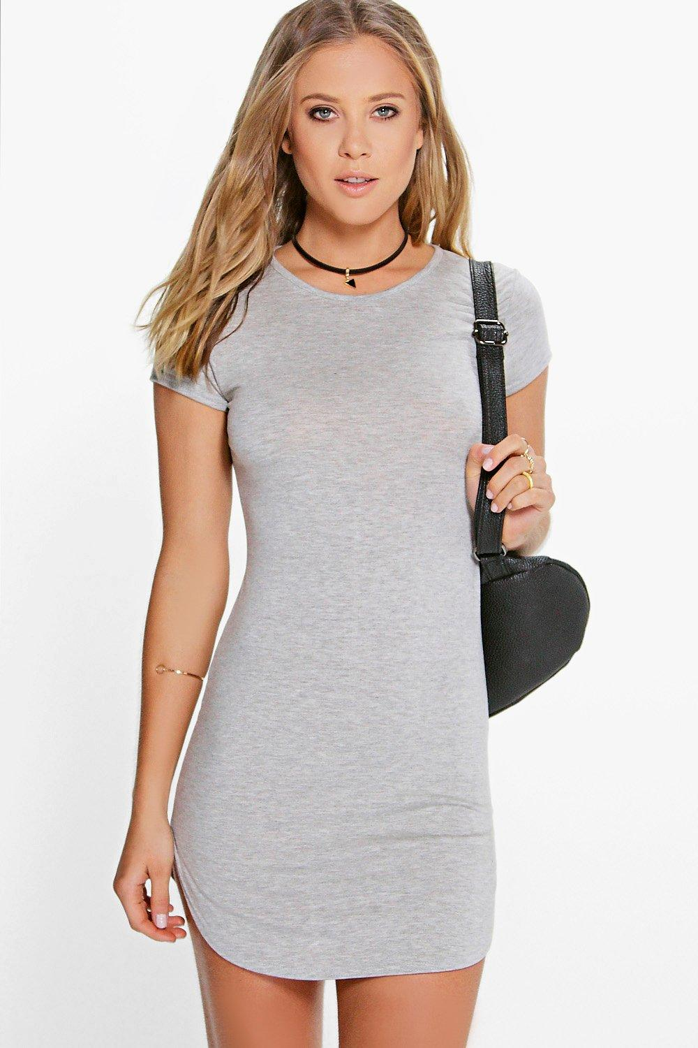 Polly Cut Out Curved Hem Bodycon Dress