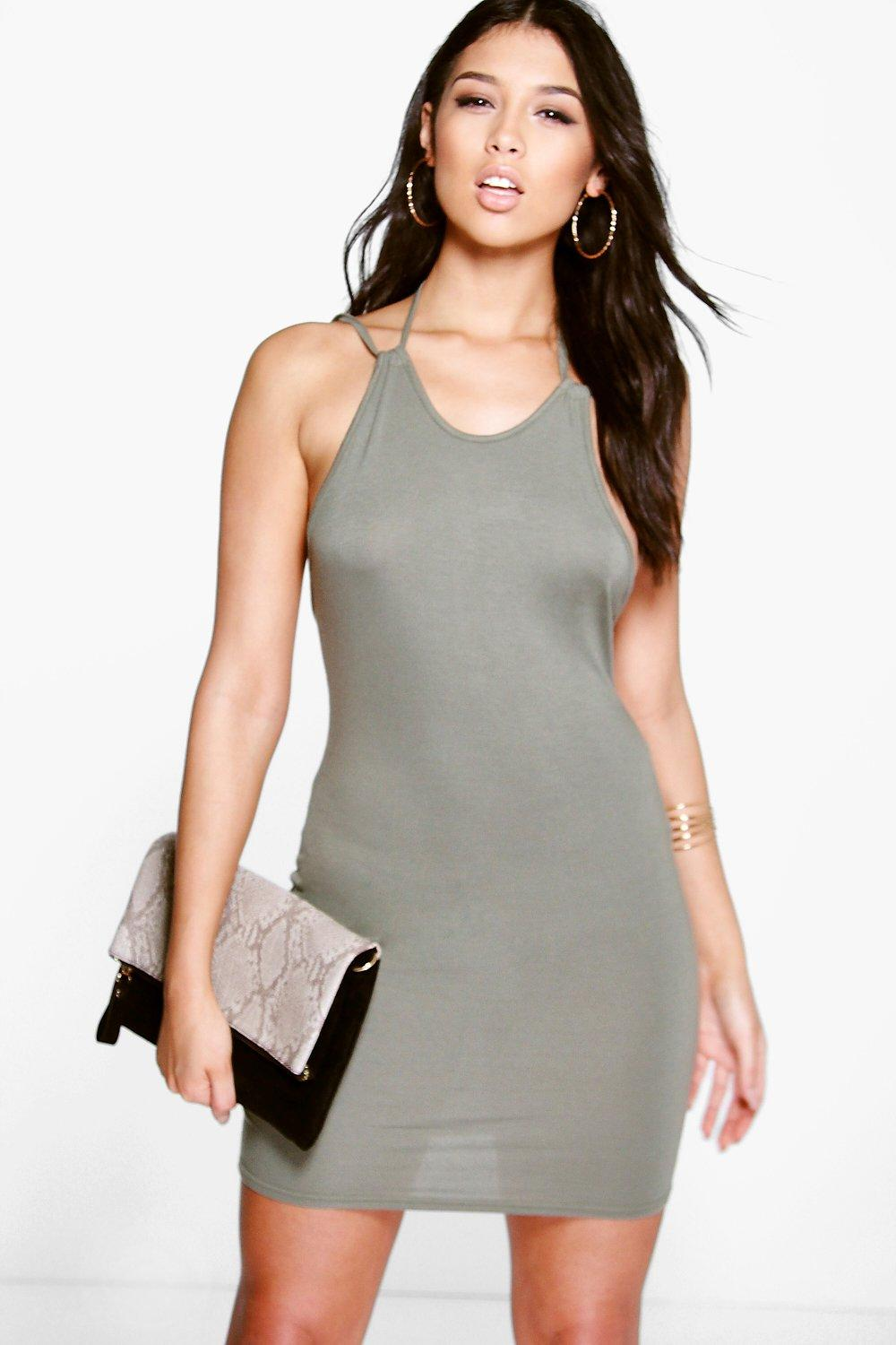 Sona Strap Detail Bodycon Dress