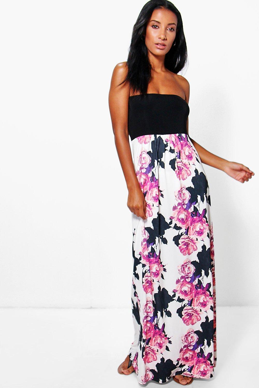 Floral Bandeau Maxi Dress multi