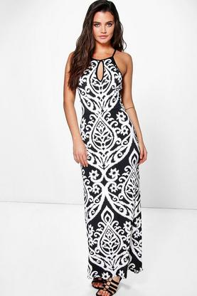 Millie Monochrome Print Maxi Dress