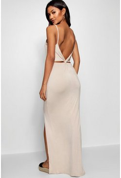 Selena Knot Cross Back Maxi Dress