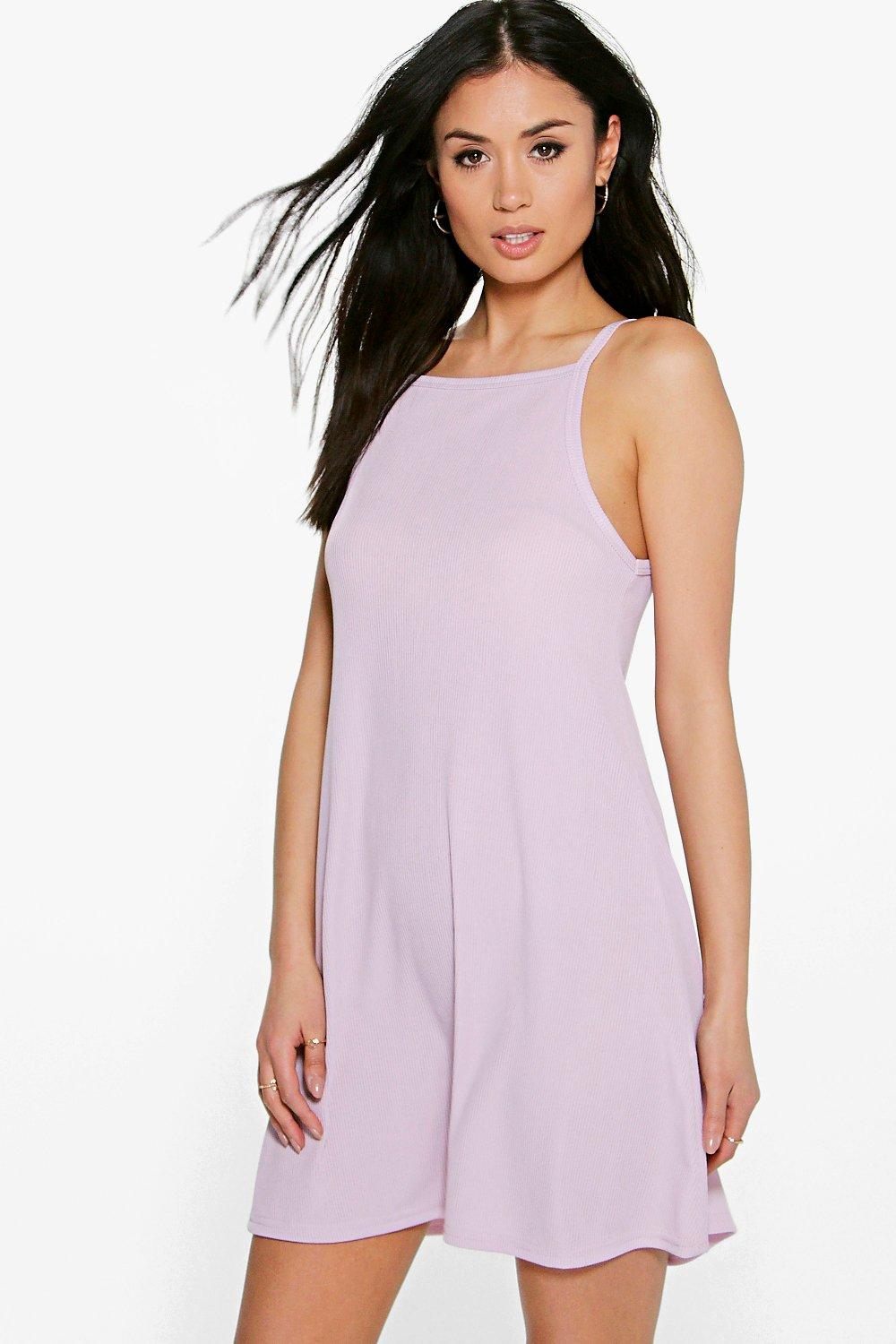 Sara High Neck Swing Dress