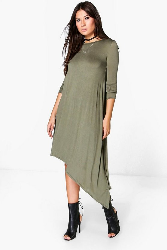Emily Drape Asymmetric Dress
