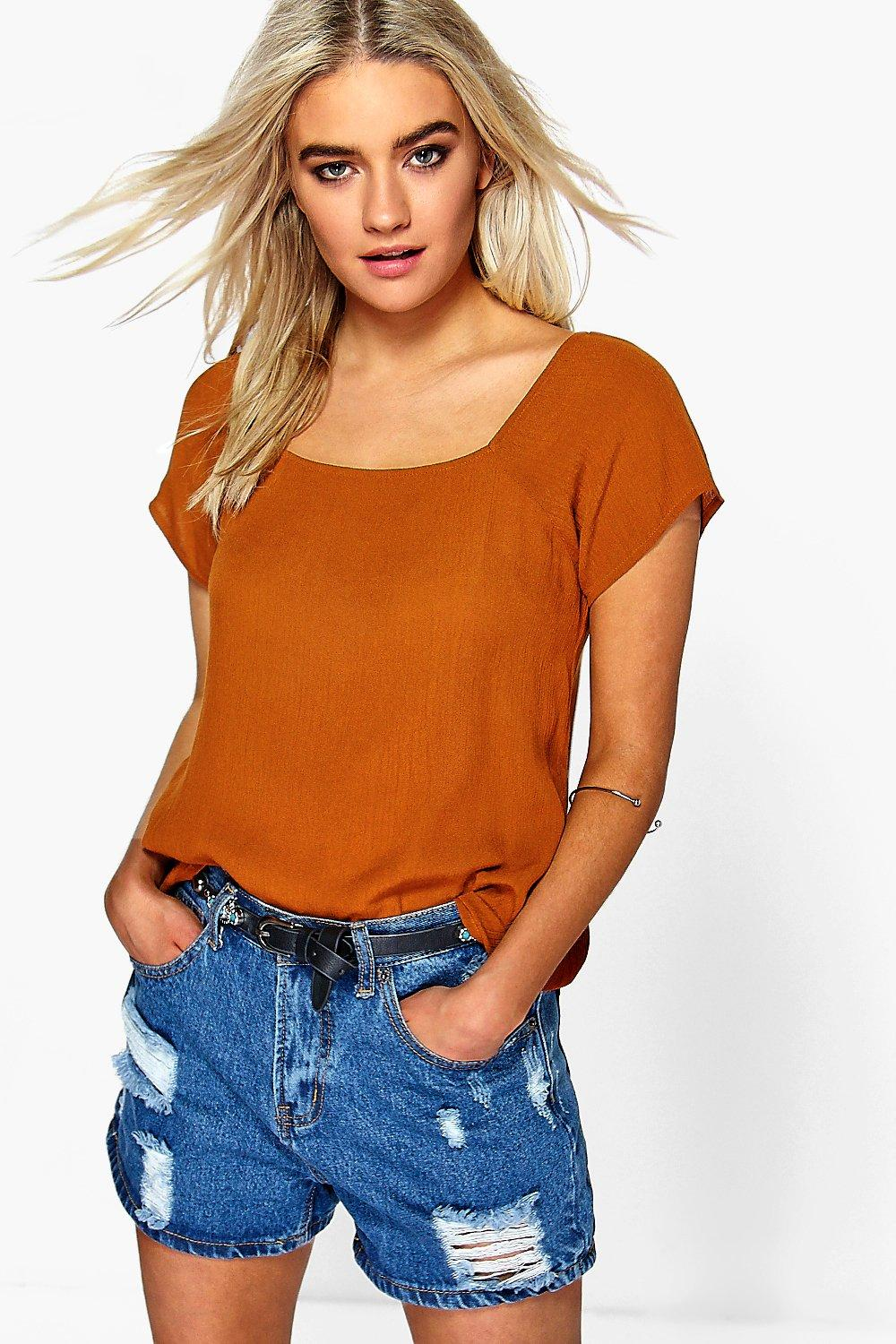 Harriet Woven Square Neck Top