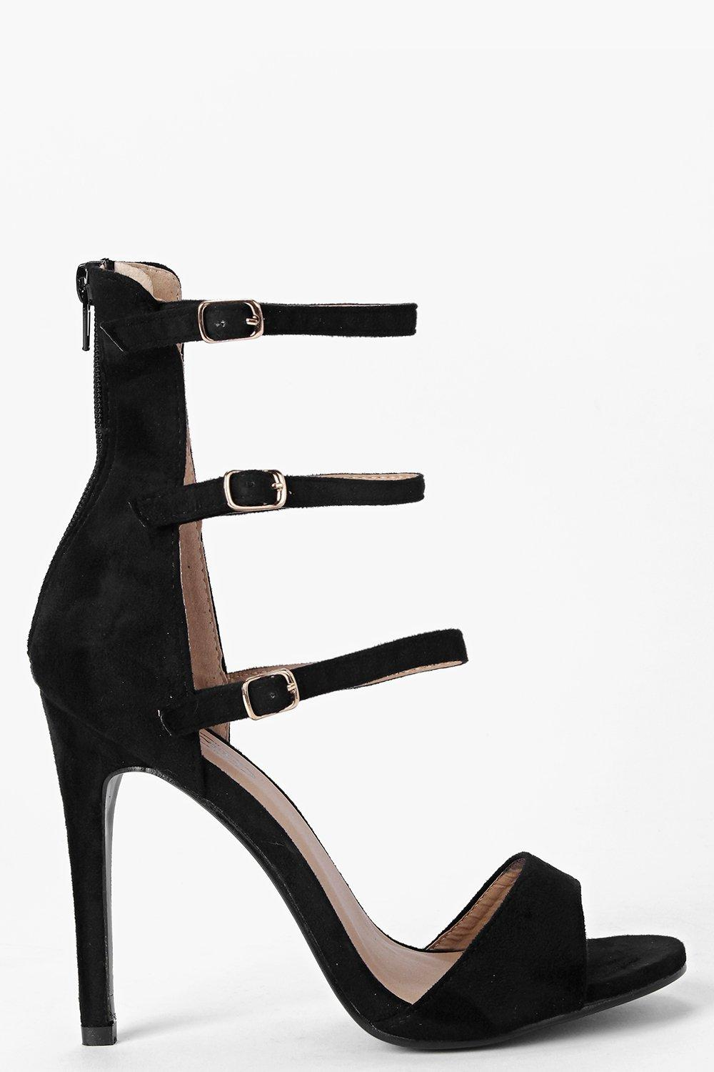 Leah Ankle High Buckle Strap Two Part Heels
