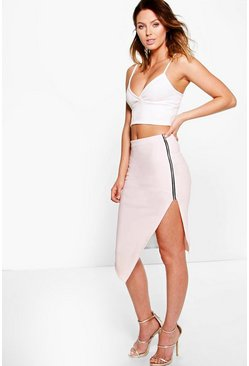 Margo Zip Side Bandage Midi Skirt