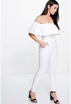 Boutique Taylor Frill Off The Shoulder Jumpsuit