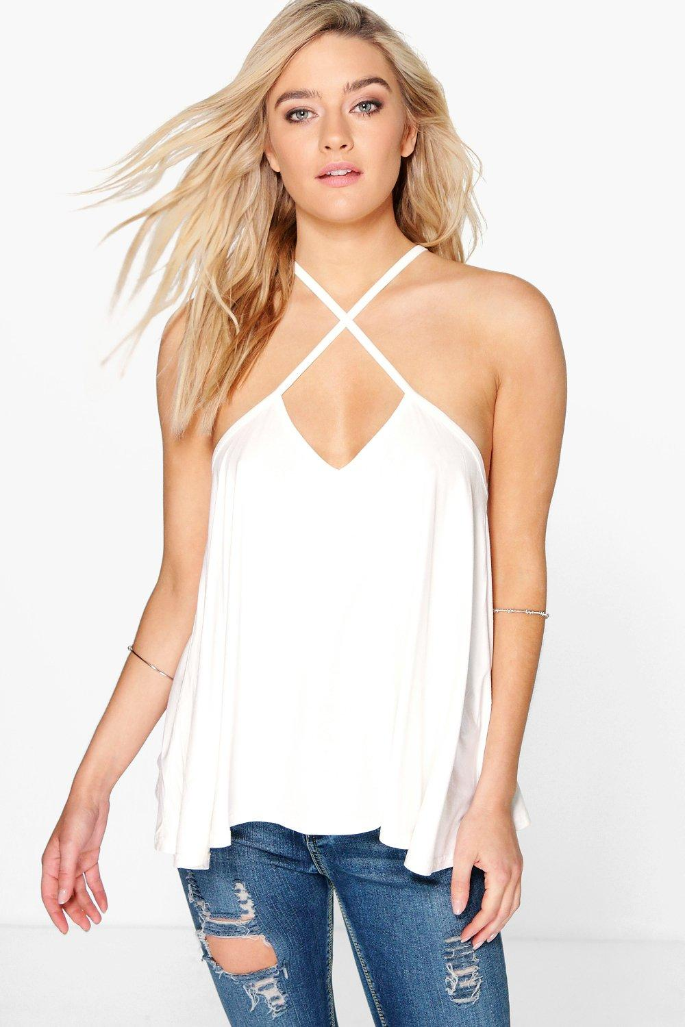 Evie Cross Neck Strap Swing Cami