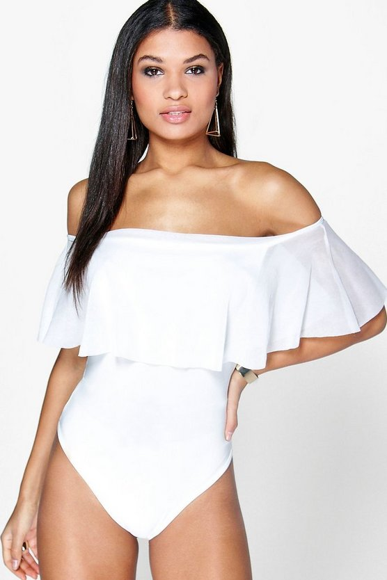 Alice Off The Shoulder Sheer Frill Body