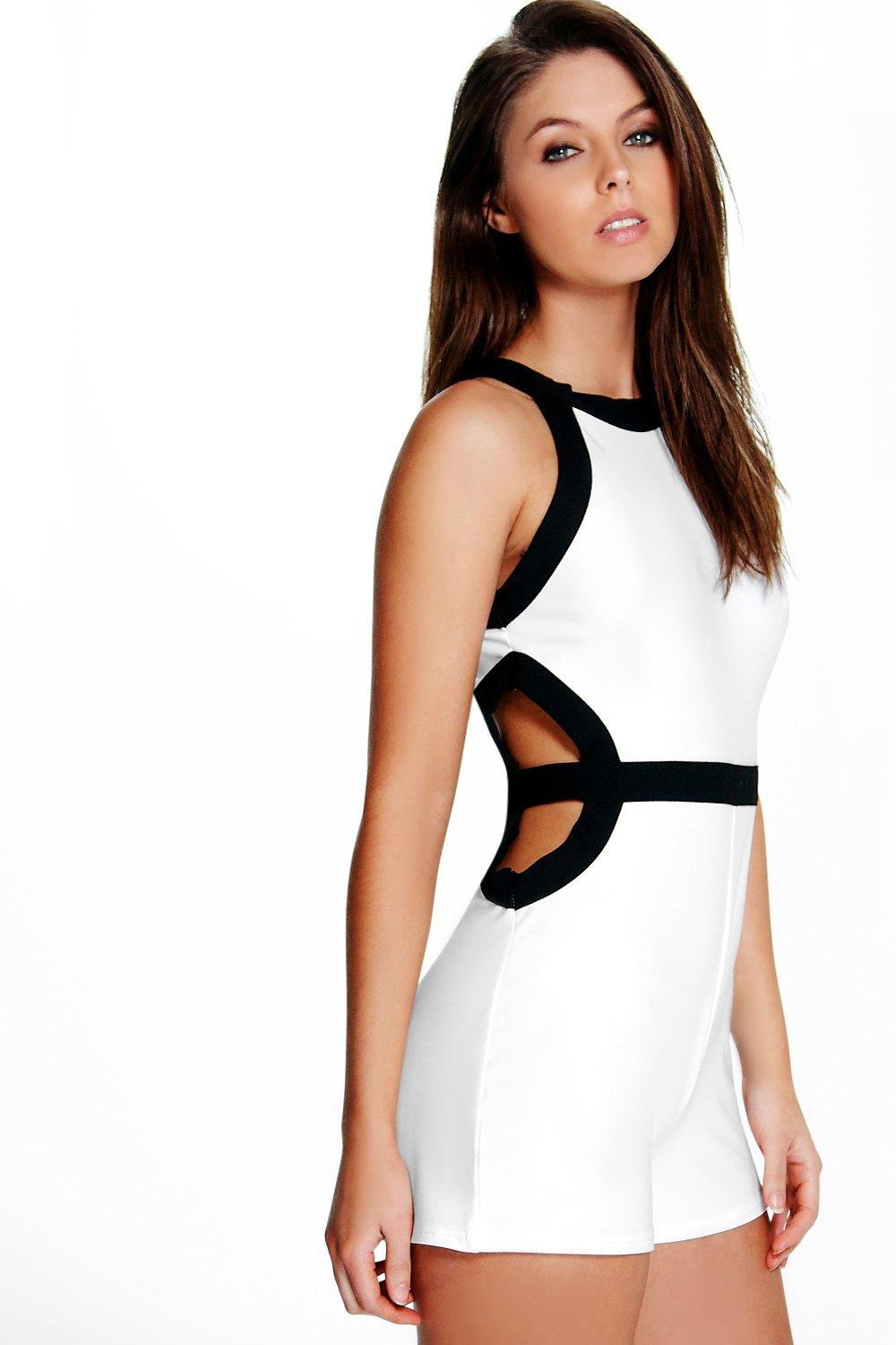 Lara Contrast Cut Out Playsuit