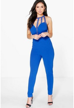 Amy Crochet Trim Skinny Leg Jumpsuit