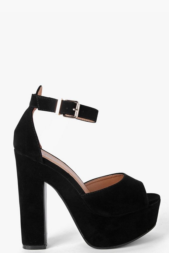 Tilly Peeptoe Ankle Band Platform Heels