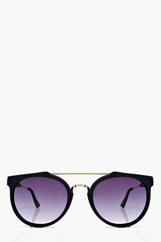 ava lunettes de soleil aviateur en m tal noir mat. Black Bedroom Furniture Sets. Home Design Ideas