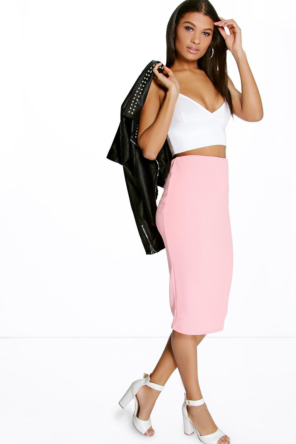Loren Ribbed Midi Skirt