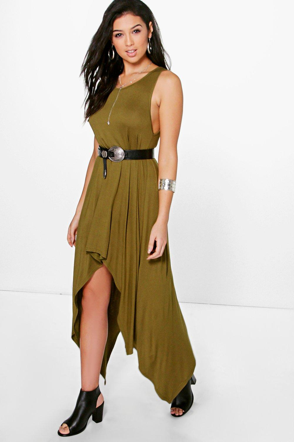Anna Asymmetric Shift Dress