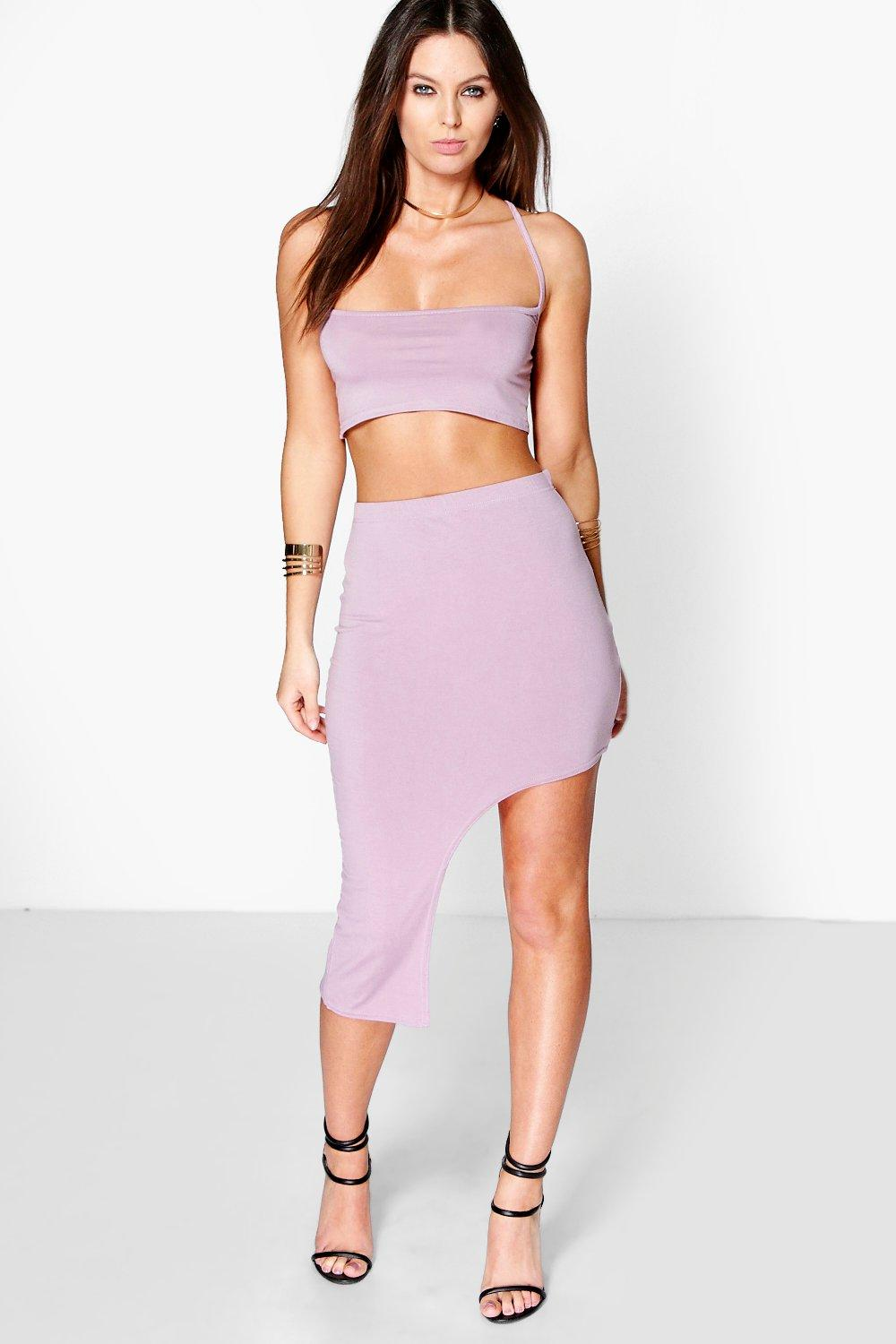 Alis Strappy Top & Asymmetric Maxi Skirt