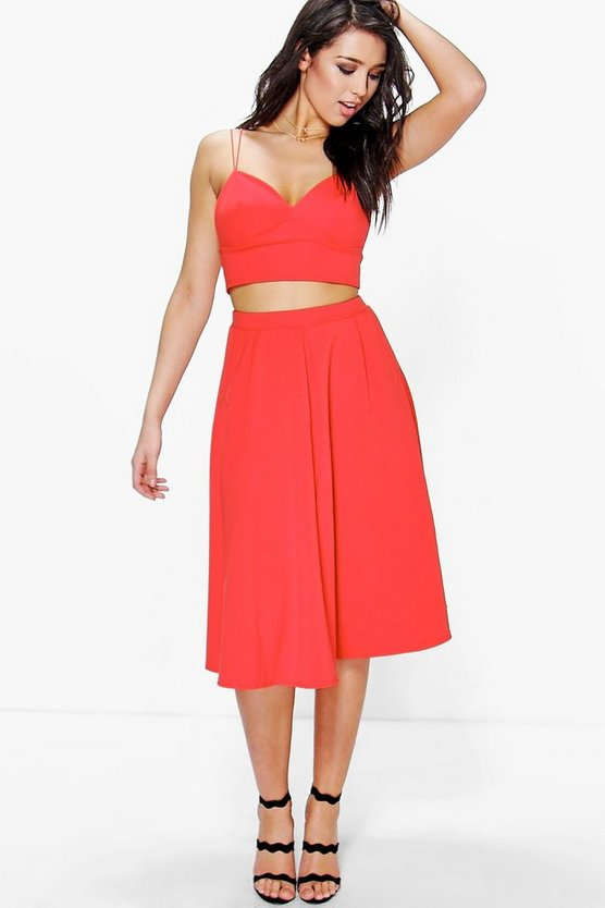 Grace Strappy Top & Full Midi Skirt Co-Ord Set