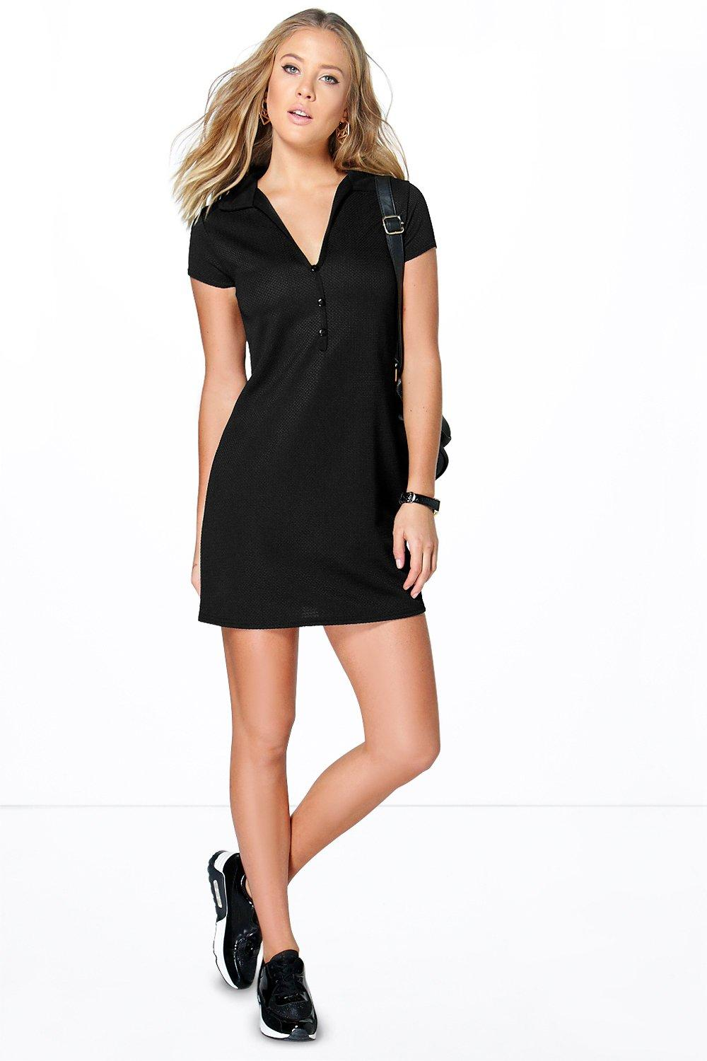 Arabella Textured Collar Shift Dress