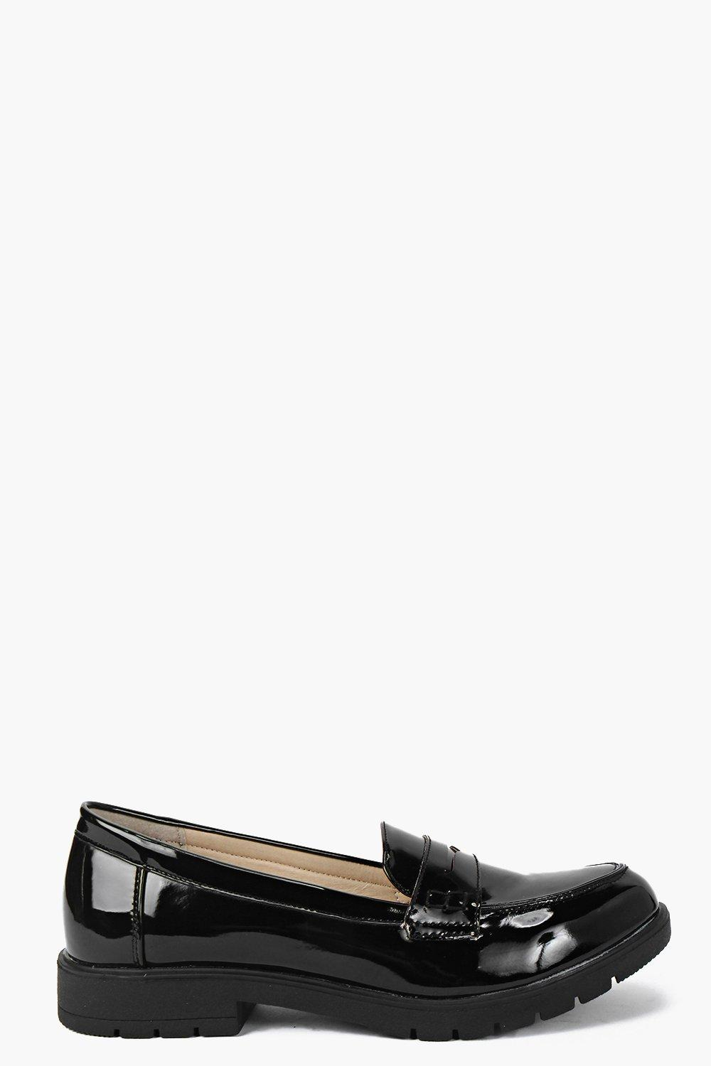 Maria Patent Cleated Trim Loafer